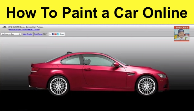 how to paint a car online