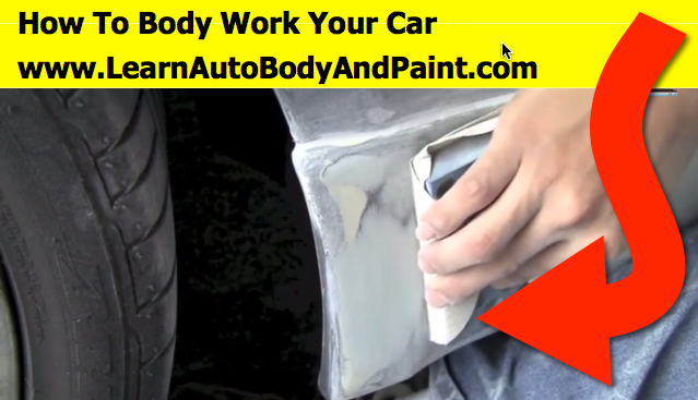 how to body work and paint a car part 1