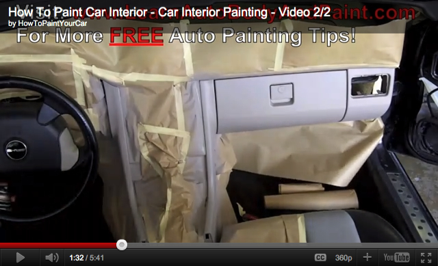 how to paint your car interior car interior painting tips how to paint your car do it. Black Bedroom Furniture Sets. Home Design Ideas