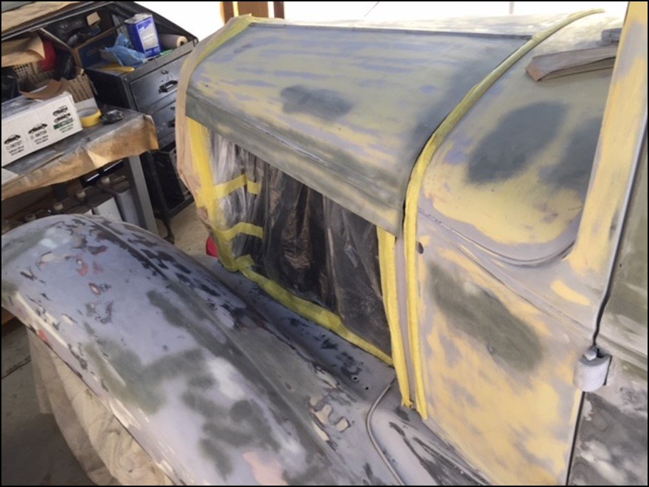 Ford Model A sanded before primer