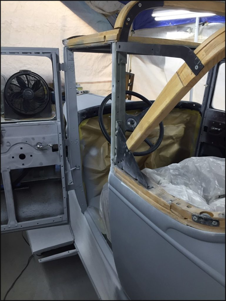 Single Stage Painting Door Jambs Ford Model A