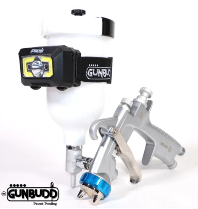 Atom X27 Spray Gun with the GunBudd Ultra Lighting System