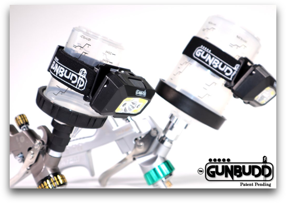 GunBudd Ultra Lighting System on Atom Spray Gun