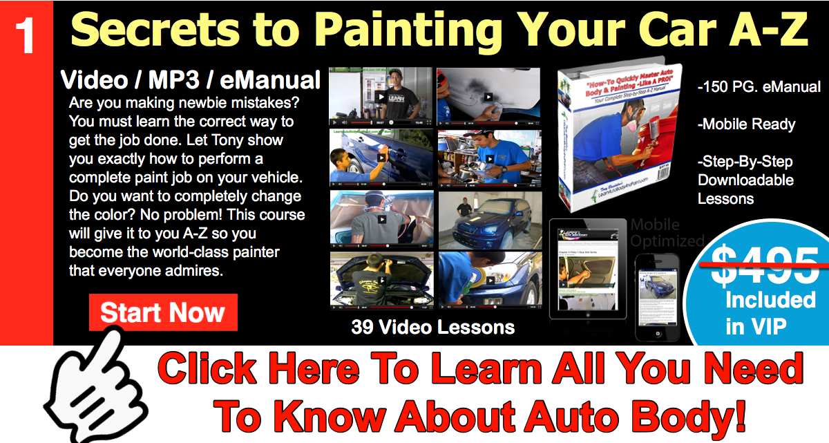 Vipblog banner how to paint your car do it yourself auto body vipblog banner how to paint your car do it yourself auto body and paint training site solutioingenieria Images